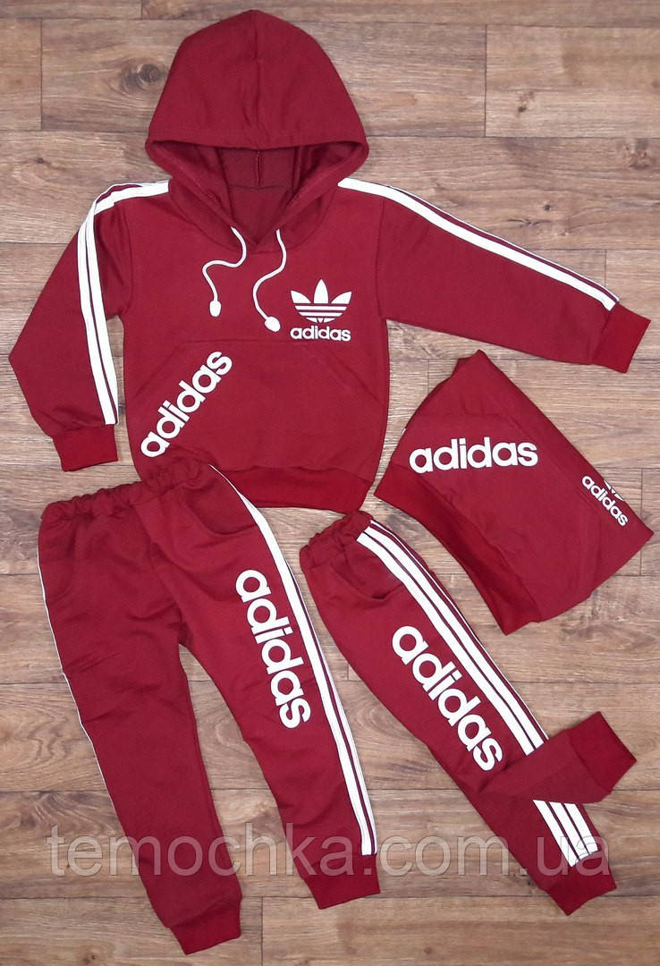 Спортивный костюм Adidas.бордовый.