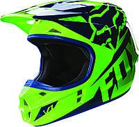 Мотошлем Fox V1 Race ECE зеленый, L, фото 1