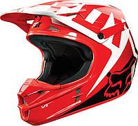 Мотошлем Fox V1 RACE ECE красный, L