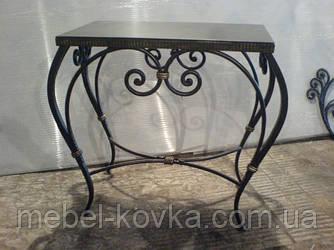 Кованый квадратный  стол со столешницей 3