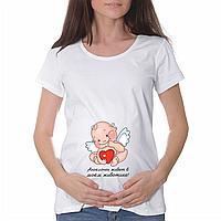 """Женская футболка """"Ангелочек в моём животике"""""""