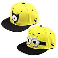 Детская бейсболка кепка Миньон для мальчика и девочки, регулируемая, кепки миньонами, детские кепки