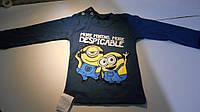 Толстовка детская с миньонами, цвет темно синий , три размера, толстовка миньоны, футболки миньоны