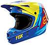 Мотошлем Fox V1 VANDAL ECE сине-желтый, XL
