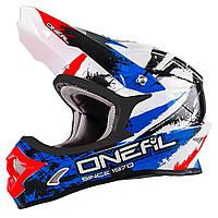 Мотошлем Oneal 3 Series Shocker черный синий красный L
