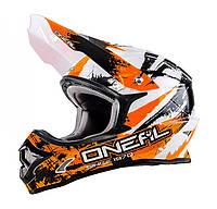 Мотошлем Oneal 3 Series Shocker черный оранжевый L