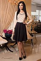 Нежное, романтичное платье (французский трикотаж, длина до колен, длинные рукава, вышивка) РАЗНЫЕ ЦВЕТА!