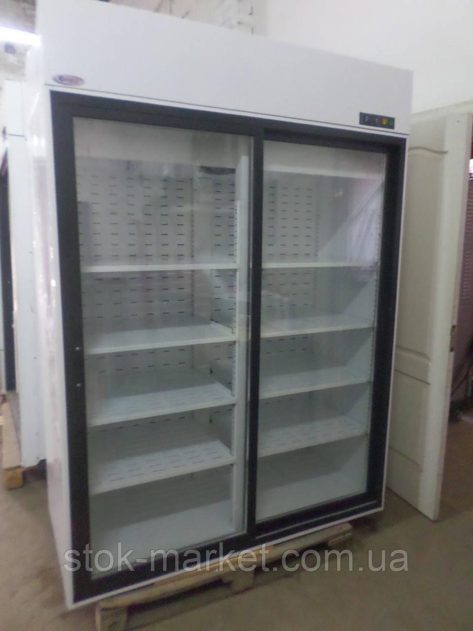 Холодильный шкаф холодильник б у Случь 1400 ВСн (двери купе) Интэко-Мастер