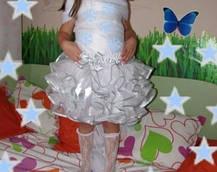 Пышная юбка из фатина с воланами, фото 3