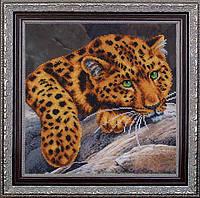 Набор для вышивания бисером Леопард МК Б-341