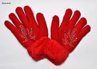 Перчатки для девочки, теплые зимние с начесом! (6-10 лет)