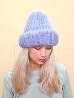 Мохеровая шапка - Сирень