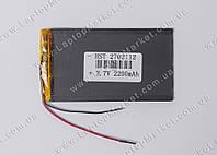 Аккумуляторная батарея для планшета Li-Polymer 3.7V, 2200mAh, 112*62*2.7мм