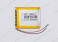 Аккумуляторная батарея для планшета Li-Polymer 3.7V, 3000mAh, 70*60*3мм