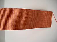 Репсовая лента итальянская натуральная, 25 мм ширина, цвет коралловый