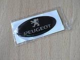 Наклейка s надпись овал Peugeot 45х20х1.2мм силиконовая эмблема логотип марка бренд на авто Пежо, фото 4