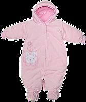 Детский комбинезон-трансформер  р. 68-74 теплый, на кнопках, велюр, наполнение холлофайбер, ТМ Baby Life