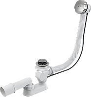 Сифон для ванны автомат AlcaPlast A55K-80 (металл)