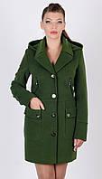 Пальто двубортное с капюшоном, фото 1