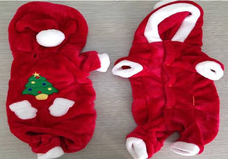 Костюм для животных Добаз, Dobaz Santa красный