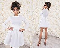 Платье из жаккарда с фатиновым подъюбником 3 цвета