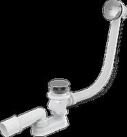 Сифон для ванны автомат AlcaPlast A55KM-80 (металл/хром)