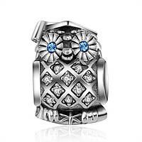PANDORA шарм - винт, МУДРАЯ СОВА, серебро S 925 ALE