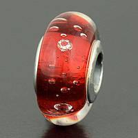 Пандора PANDORA шарм-винт Муранское стекло КРАСНАЯ S 925ALE
