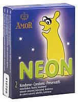 Презервативы светящиеся AMOR Неон 2 шт/уп