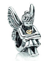 PANDORA шарм-винт ФЕЯ ЗОЛОТОЕ СЕРДЦЕ, серебро S 925 ALE