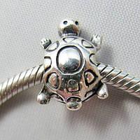 PANDORA шарм-винт ЧЕРЕПАХА, серебро S 925 ALE