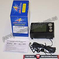 Часы электронные с вольтметром и термометром, будильником, календарем под штатное место ВАЗ 2110-12 (Авто-Элек