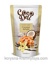 Сладкие кокосовые чипсы со вкусом Ванили, CocoDeli. 30гр