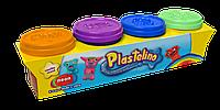 Набор для лепки Plastelino 4 цвета неон (NOR3318)