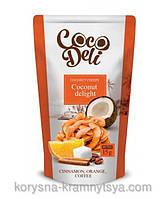 Кокосовые чипсы со вкусом апельсина, корицы и кофе, CocoDeli. 30 гр.