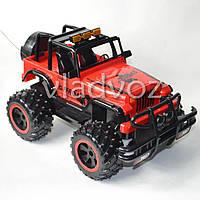 Машинка на радио управлении модель джип горят фары offroad crawler красный