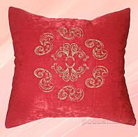 Подушка с вышивкой Украина ДП61 Красная Золото 40х40 см