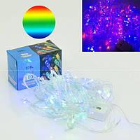 Гирлянда светодиодная 9 м, 100 разноцветных лампочек. Режим переключения цвета