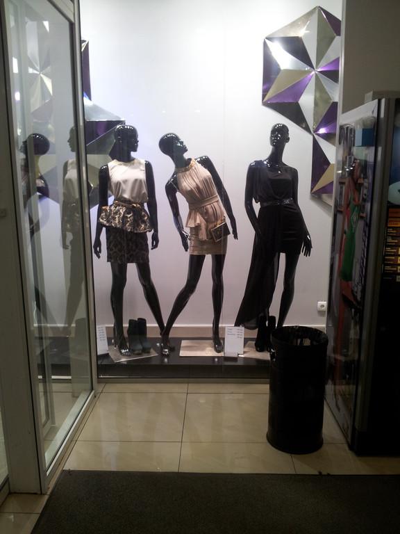 На витрине этого магазина, Вы видите манекены женские в различных позах. Так же в наличии есть манекены мужские и детские как классические так и нестандартные.