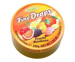Леденцы Fine Drops Woogie со вкусом фруктовое ассорти, 200 гр