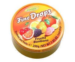 Леденцы Fine Drops Woogie со вкусом фруктовое ассорти, 200 гр, фото 2