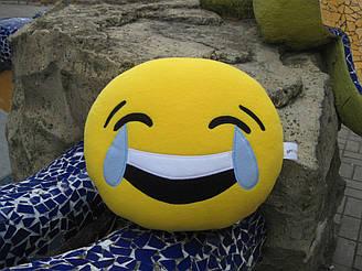 Подушка - игрушка Эмодзи Emoji Смайл ручной работы