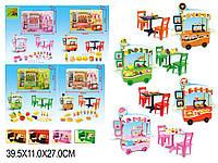 """Мебель """"Кафе"""" 127-1/2/3/4 4 вида, стол,стулья,аксесс, в кор.40*11*27см"""