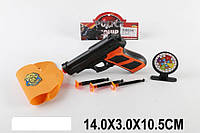 Пистолет с присосками JM66-310A кобура,в пакете 14*3*10,5см