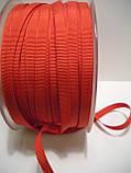 Репсовая лента итальянская, полиэстер, 6 мм ширина, красный цвет, фото 2