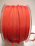 Репсовая лента итальянская, полиэстер, 6 мм ширина, красный цвет, фото 4