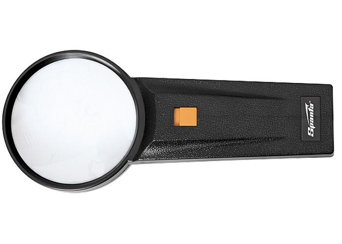 Лупа 2.5-кратная, D 75 мм, с подсветкой, с рукояткой SPARTA