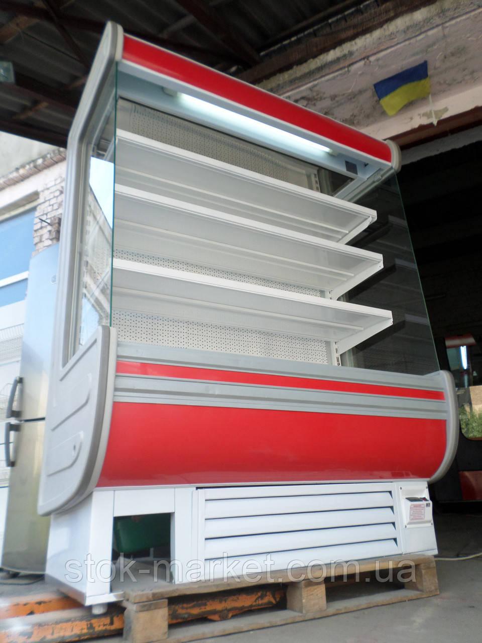 Холодильная горка Технохолод Аризона 1,5 м. б/у, холодильный регал б у, горка холодильная б у, регал б у.