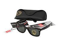 Женские солнцезащитные очки в стиле RAY BAN Wayfarer 2140-902 leo LUX, фото 1