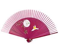 Веер ручной из бамбука и шелка